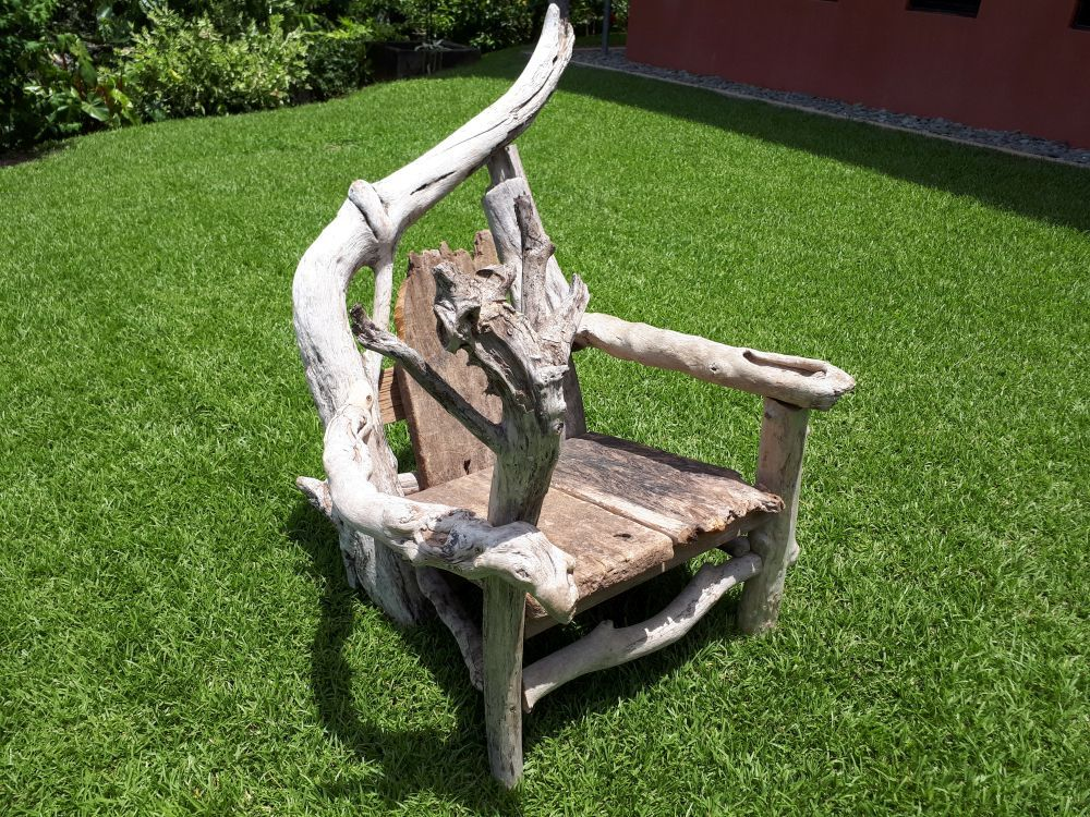 Driftwood Art Chair: Crazy Number One